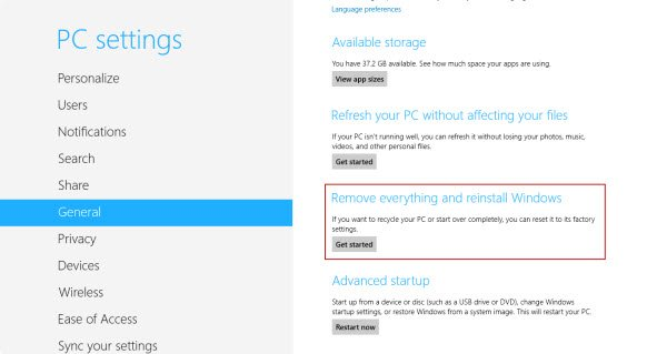 So reparieren Sie Windows 8 mit der Update- und Reset-Funktion