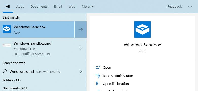 Was ist Windows Sandbox und wie wird es zum Ausführen von Anwendungen verwendet?  Mit dem Windows 10 Mai 2019 Update hat Microsoft eine neue Windows-Sandbox-Funktion hinzugefügt.  In diesem Artikel erfahren Sie, was Windows Sandbox wirklich ist und wie Sie es aktivieren.