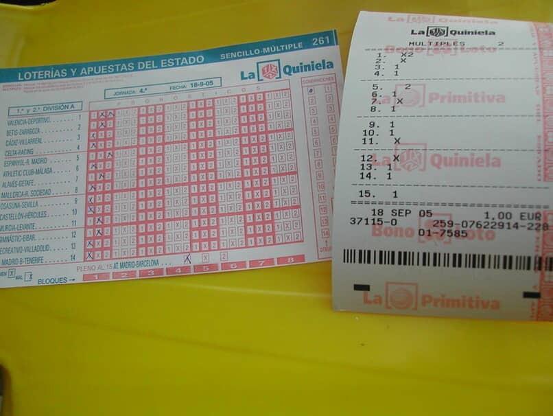 Tabelle und Sammlung von Jackpots aus Lotterien und staatlichen Wetten