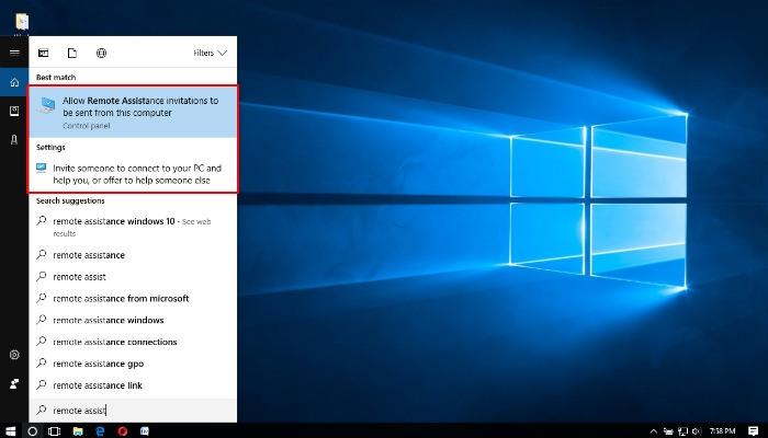 Remote-Fehlerbehebung auf einem Windows 10-Computer mit Quick Assistance