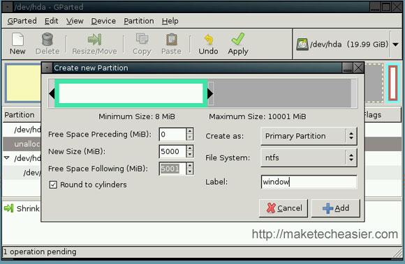 So ändern Sie die Größe und erstellen Partitionen mit dem Gnome-Partitionseditor (GParted)