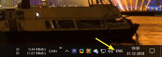 So blenden Sie die Eingabeanzeige und die Sprachleiste in Windows 10 ein oder aus