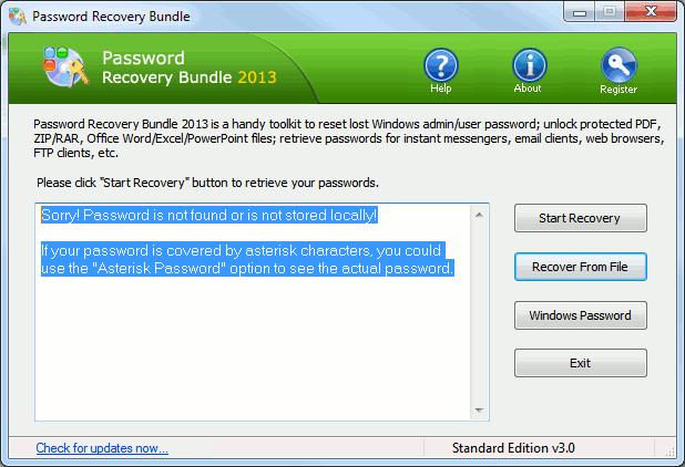 Stellen Sie Passwörter für Windows-Anwendungen mit dem Password Recovery Package + Giveaway wieder her