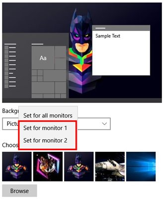 So legen Sie verschiedene Hintergrundbilder auf verschiedenen Monitoren in Windows 10 fest. Für mehrere Monitore in Windows 10 ist das Einstellen verschiedener Hintergrundbilder nicht so einfach.  So legen Sie verschiedene Hintergrundbilder auf verschiedenen Monitoren fest.