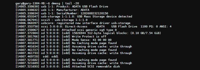 Verwenden von dmesg unter Linux