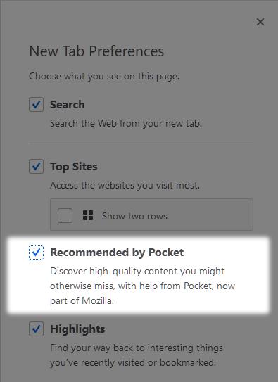 So deaktivieren Sie Pocket in Firefox auf dem Desktop und MobilePocket ist in den Firefox-Browser integriert, aber nicht jeder ist ein Fan der Pocket-Integration.  Wenn Sie es nicht mögen, können Sie Pocket in Firefox wie folgt deaktivieren.