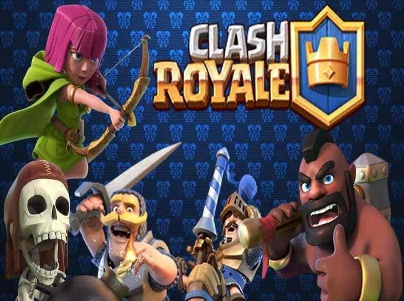 Clash Royale 3 Zeichen blauen Hintergrund