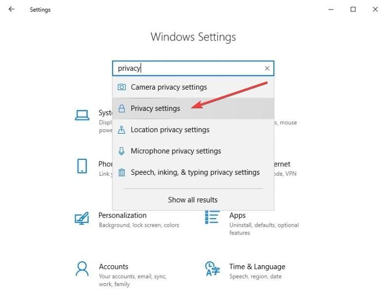 Deaktivieren Sie Microsoft Edge. Schritt 3