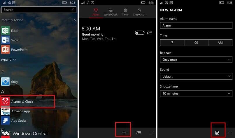 Weg, um Windows-Alarm einzustellen