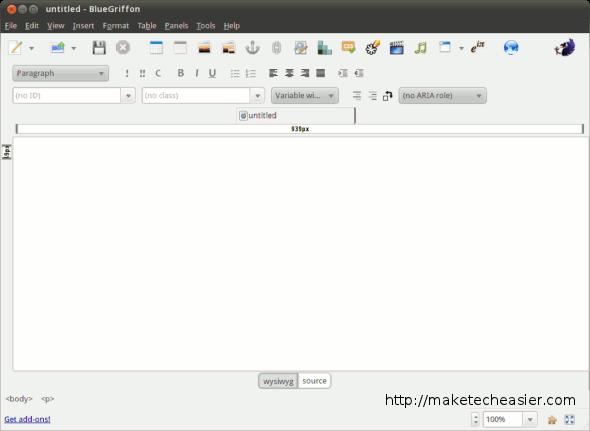 Erstellen und bearbeiten Sie Webseiten auf dem Linux-Desktop mit BlueGriffon