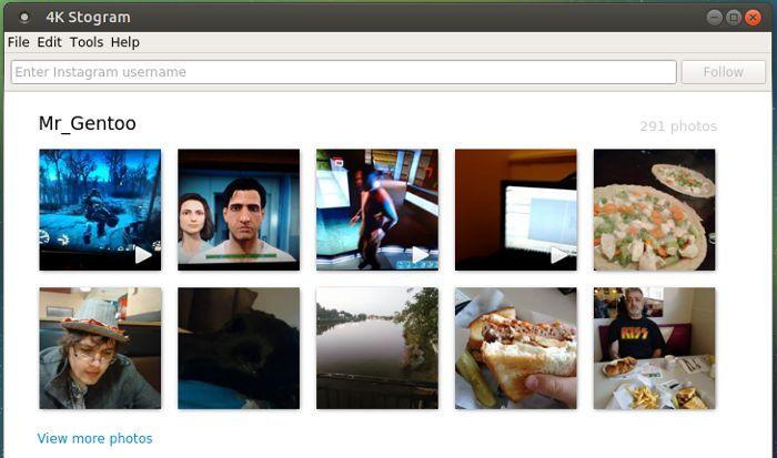 Laden Sie einfach Ihre Instagram-Bildbibliothek unter Linux mit 4k Stogram herunter