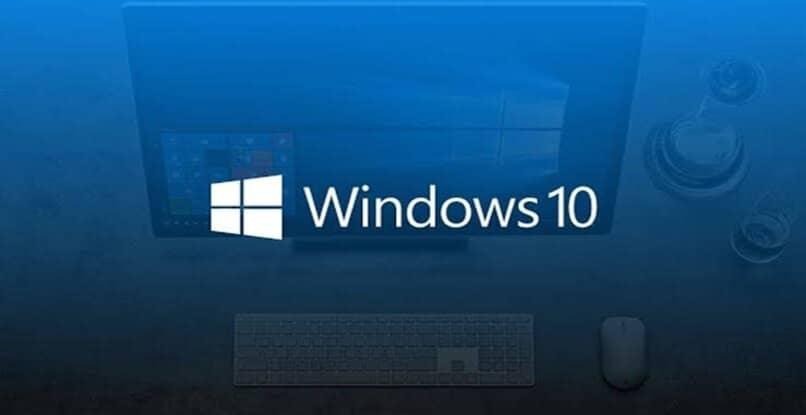 weiße Buchstaben blaues Fenster Logo