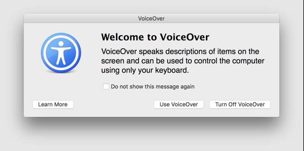 Konfigurieren Sie den Mac Voice Over