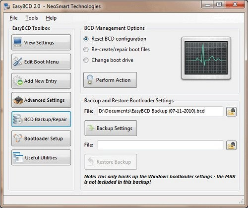Setzen Sie Ihren Bootloader mit EasyBCD zurück[Windows]