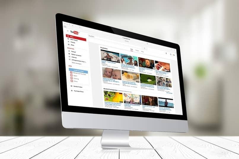 PC auf Youtube-Seite
