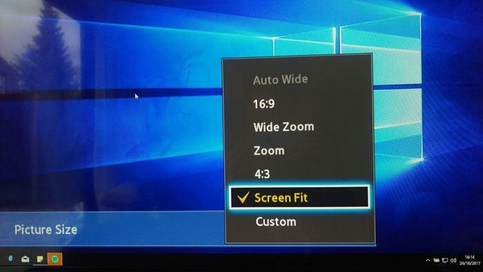 So beheben Sie Overdrive bei Verwendung Ihres Fernsehers als PC-Monitor Wenn Sie Ihren Desktop an Ihren Fernseher anschließen, kann ein Overdrive-Problem auftreten.  Hier sind einige Möglichkeiten, das Overscan-Problem auf einem Fernseher zu beheben.