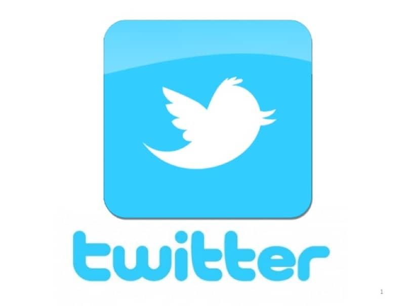soziales Netzwerk Twitter weißer Hintergrund
