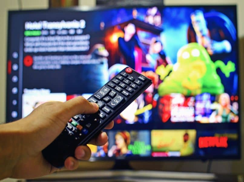 Netflix-Hintergrund auf dem Fernsehbildschirm