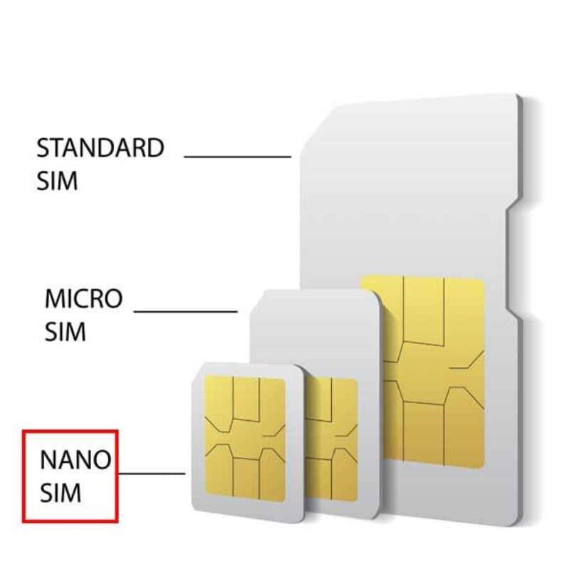 verschiedene Größen von SIM- oder Chipkarten