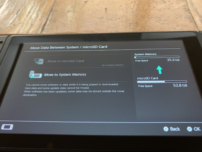 Speicher des Mikrowellenübertragungssystems für Nintendo Switch