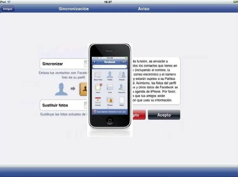 Handy Android Benachrichtigung Freunde Synchronisation Facebook