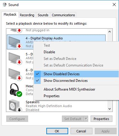 So verwenden Sie den optischen (S / PDIF) Port in Windows 10