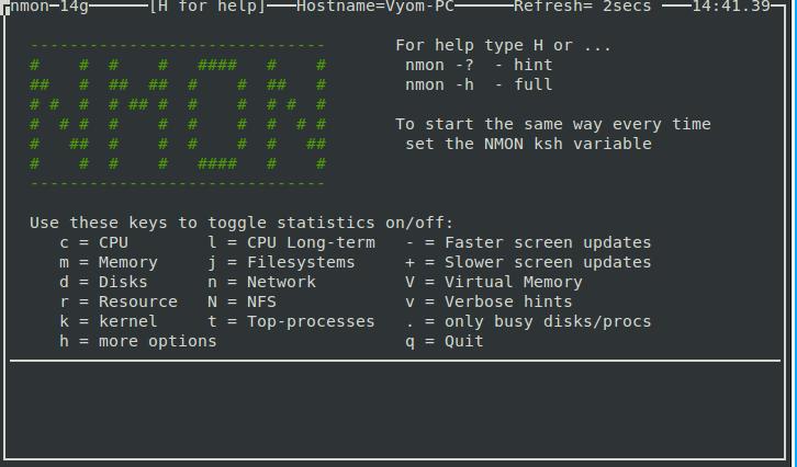 Überwachen Sie die Leistung des Linux-Systems mit Nmon