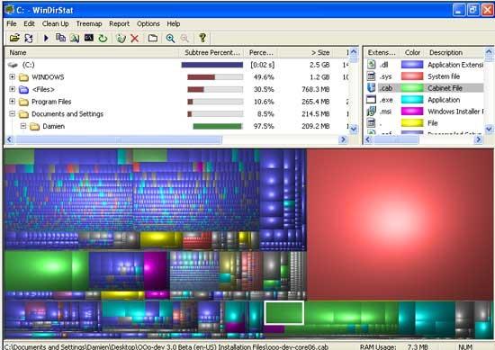 Verwalten Sie Ihre Festplattennutzung mit WinDirStat