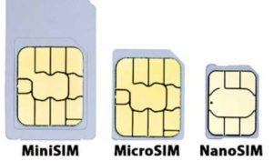 Arten von Sims, die für mobile Geräte existieren