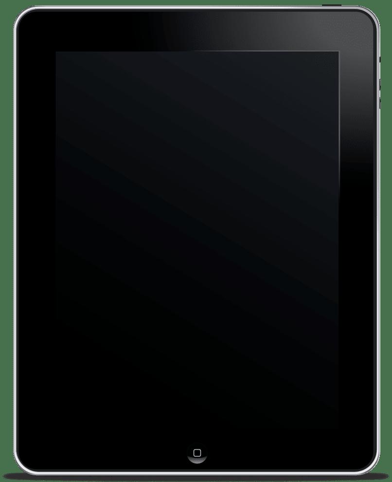 Tablette mit schwarzem Bildschirm