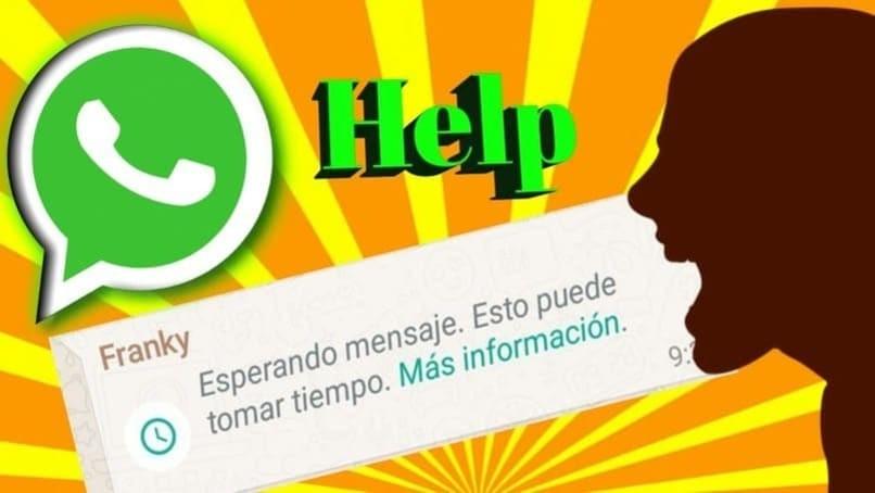 Popup-Nachricht auf WhatsApp, die auf eine Nachricht wartet, kann einige Zeit dauern