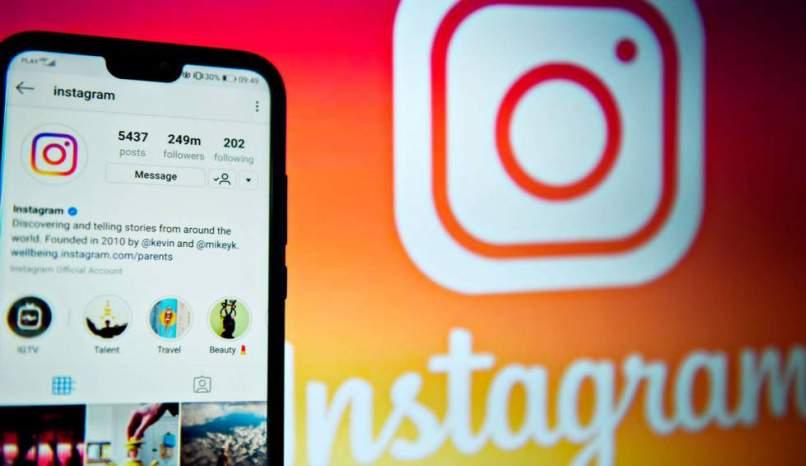 Popularität des Inhaltsaustauschs auf dem Instagram des sozialen Netzwerks